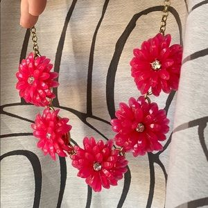 Pink statement necklace JCrew